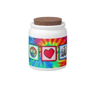 Peace, Love, Pandas Candy Dish