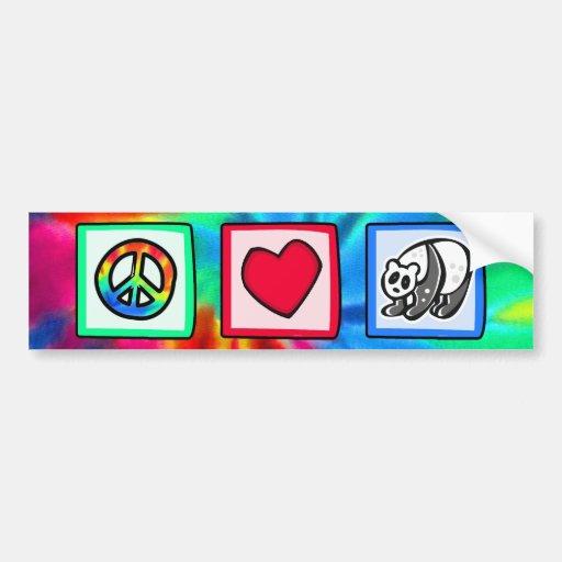 Peace, Love, Pandas Car Bumper Sticker