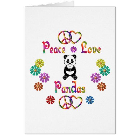 PEACE LOVE PANDAS CARD