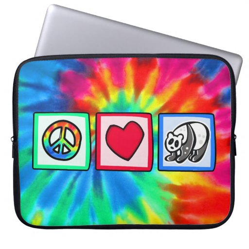 Peace, Love, Pandas Computer Sleeve