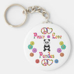 PEACE LOVE PANDAS KEY CHAIN
