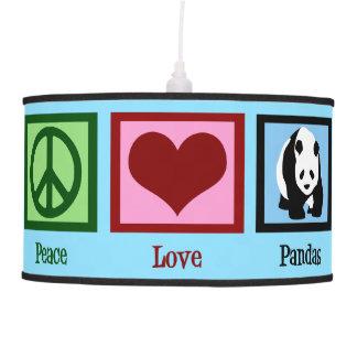 Peace Love Pandas Pendant Lamp