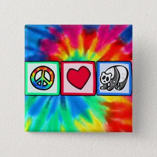 Peace, Love, Pandas Pinback Button
