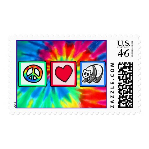 Peace, Love, Pandas Postage Stamps