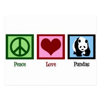 Peace Love Pandas Postcard