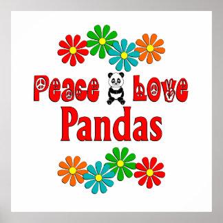 Peace Love Pandas Posters