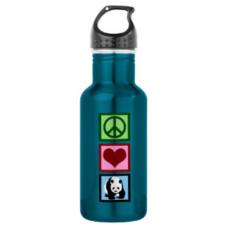 Peace Love Pandas Stainless Steel Water Bottle