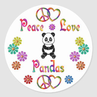 PEACE LOVE PANDAS STICKER