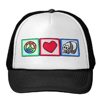 Peace, Love, Pandas Trucker Hat