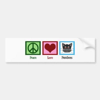 Peace Love Panthers Bumper Sticker