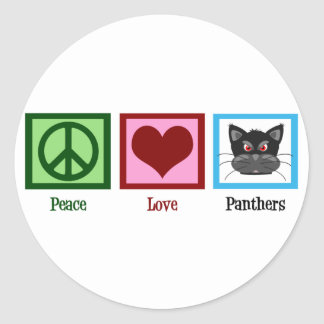 Peace Love Panthers Stickers