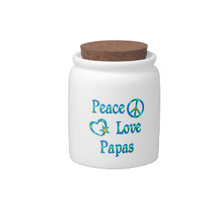Peace Love Papas Candy Dishes