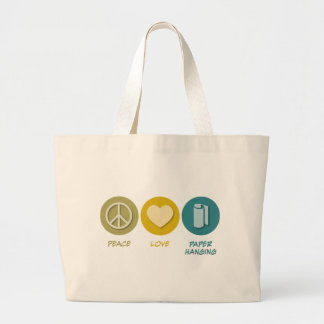 Peace Love Paper Hanging Canvas Bags