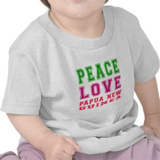Peace Love Papua New Guinea Shirt