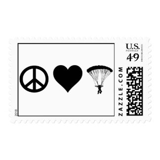 Peace Love Parachuting Postage