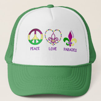 PEACE LOVE PARADES MARDI GRAS HAT 72MARKETING