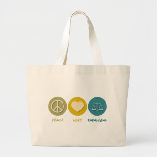Peace Love Paralegal Tote Bags