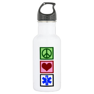 Peace Love Paramedic Water Bottle