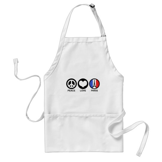 Peace Love Paris Adult Apron