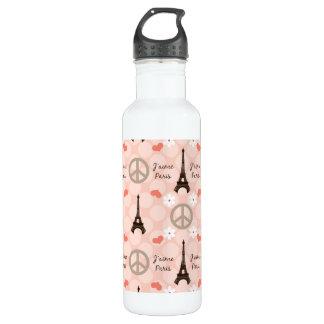 Peace Love Paris BPA Free Water Bottle
