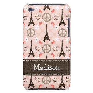 Peace Love Paris Eiffel Tower iPod Touch Cover
