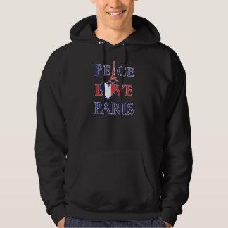 Peace Love Paris Hooded Sweatshirt