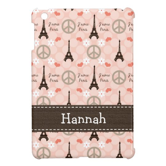 Peace Love Paris iPad Mini Covers