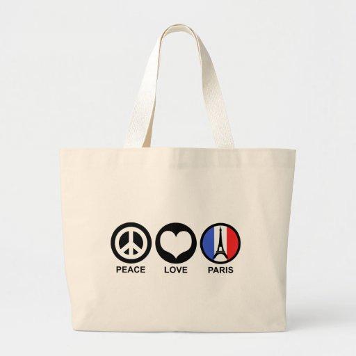 Peace Love Paris Jumbo Tote Bag