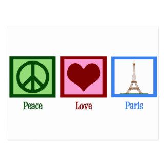 Peace Love Paris Postcard