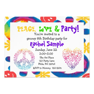 Peace Love Party Invitation