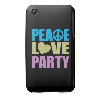 Peace Love Party iPhone 3 Cover