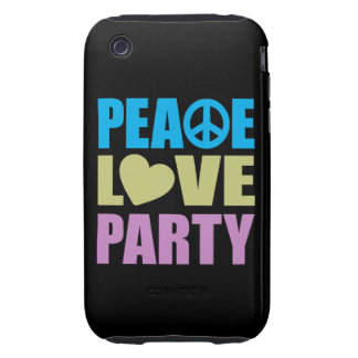 Peace Love Party iPhone 3 Tough Cases