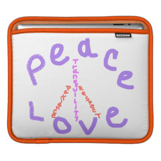 Peace love patience tranquility Rickshaw Sleeve Sleeve For iPads
