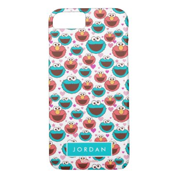 Peace & Love Pattern | Add Your Name iPhone 8/7 Case