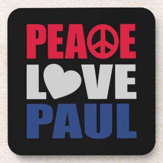 Peace Love Paul Beverage Coaster