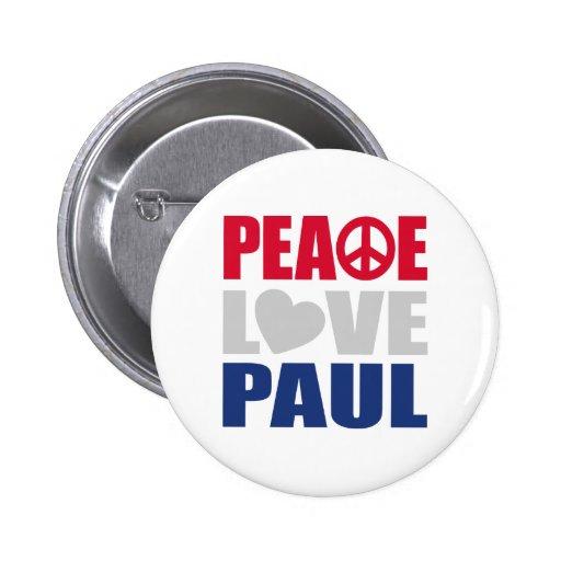 Peace Love Paul Button