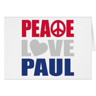 Peace Love Paul Greeting Card