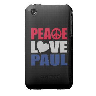 Peace Love Paul Case-Mate iPhone 3 Cases