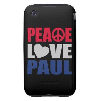 Peace Love Paul iPhone 3 Tough Covers