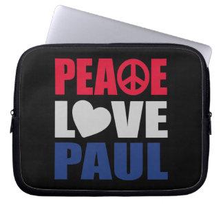 Peace Love Paul Laptop Computer Sleeve