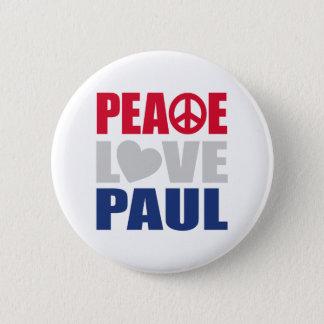 Peace Love Paul Pinback Button