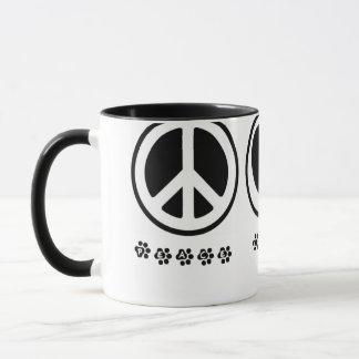 Peace Love Paw 11 oz Mug