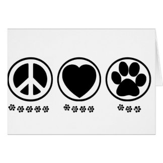 Peace Love Paw Card