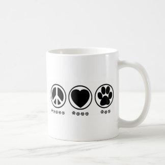Peace Love Paw Coffee Mug