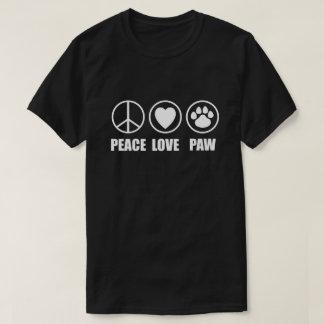 Peace Love Paw Dark T-Shirt