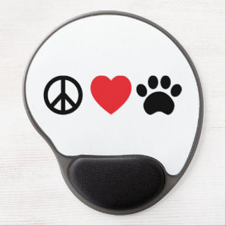 Peace Love Paw Gel Mouse Pad