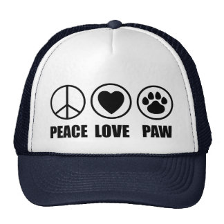 Peace Love Paw Hat