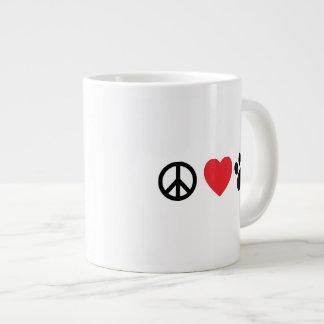 Peace Love Paw Jumbo Coffee Mug
