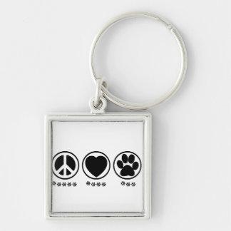 Peace Love Paw Keychain