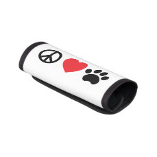 Peace Love Paw Luggage Handle Wrap
